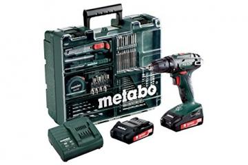 Metabo BS 18 Mobile Werkstatt Set Akku Bohrschrauber -
